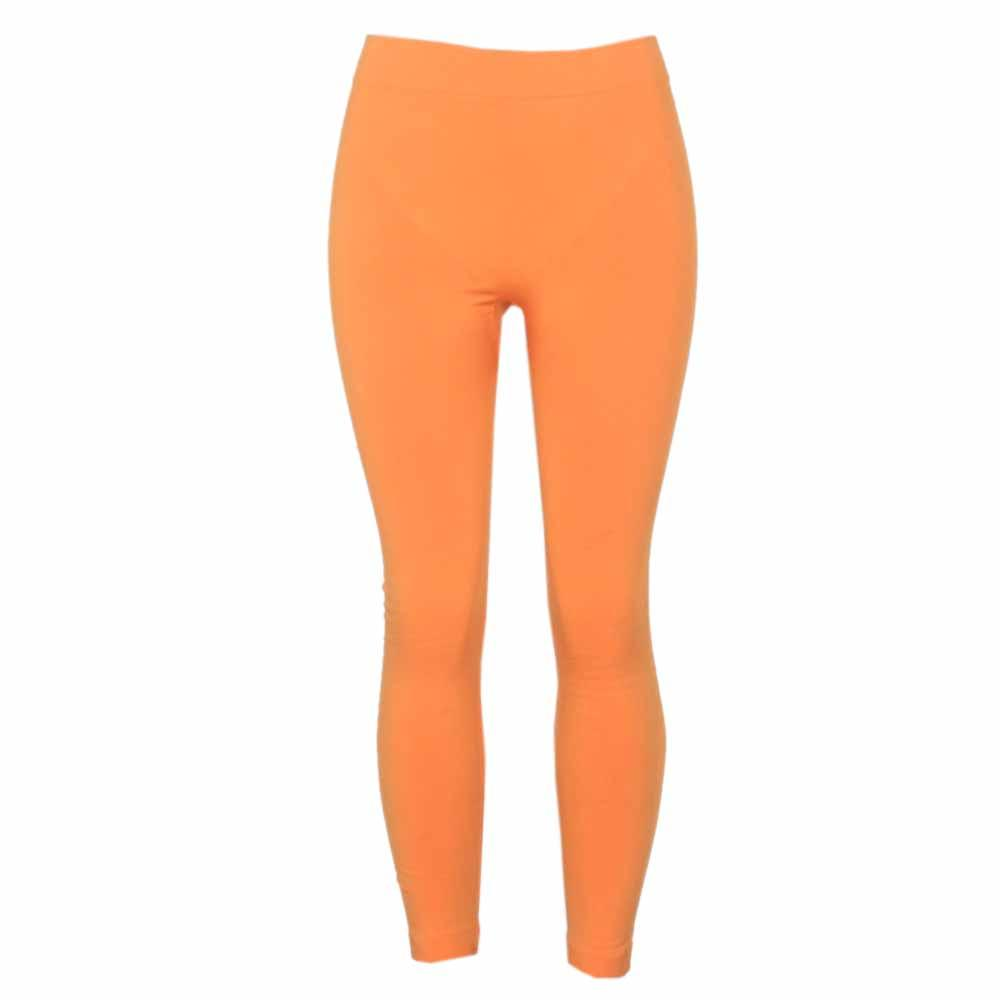 Lek Lek Orange Cotton Ladies Jeggings-M-L
