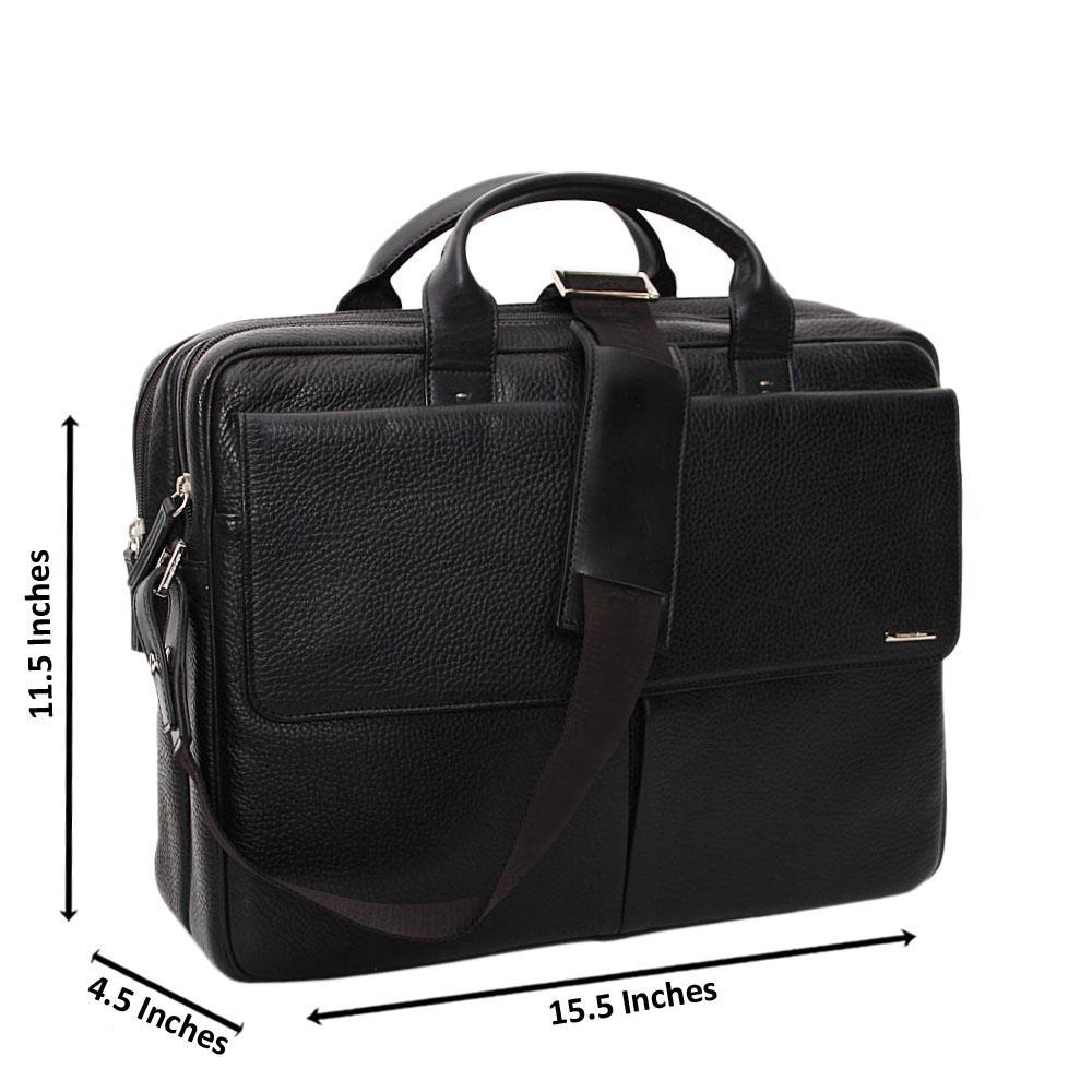 Black Marcus Sanchez Leather Briefcase