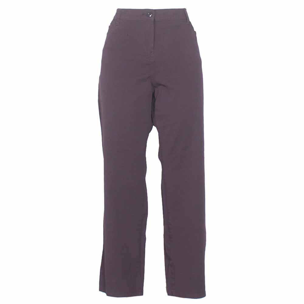 Wine Cotton Ladies Trouser-W38, L42
