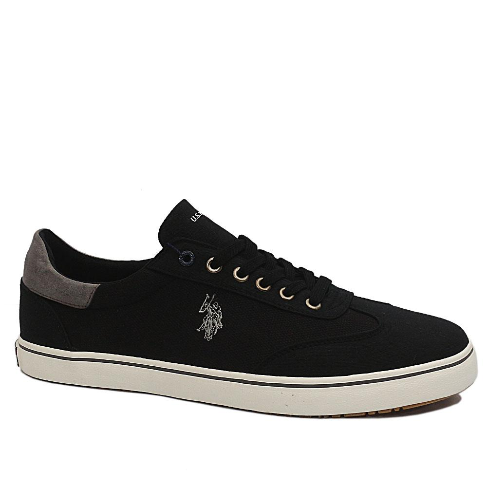 USSPA Black Ted Fabric Sneakers