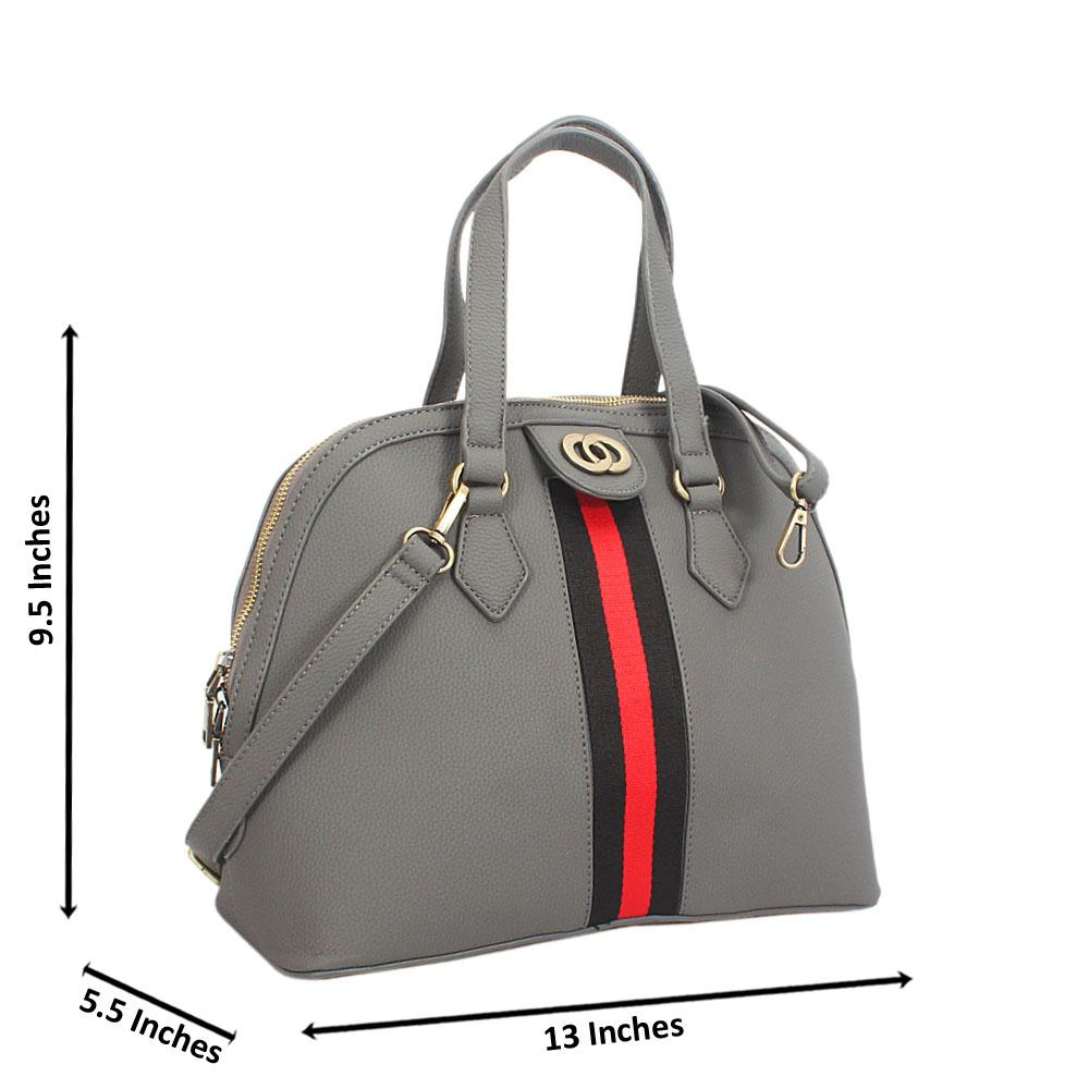 Gray Diane Leather Tote Handbag