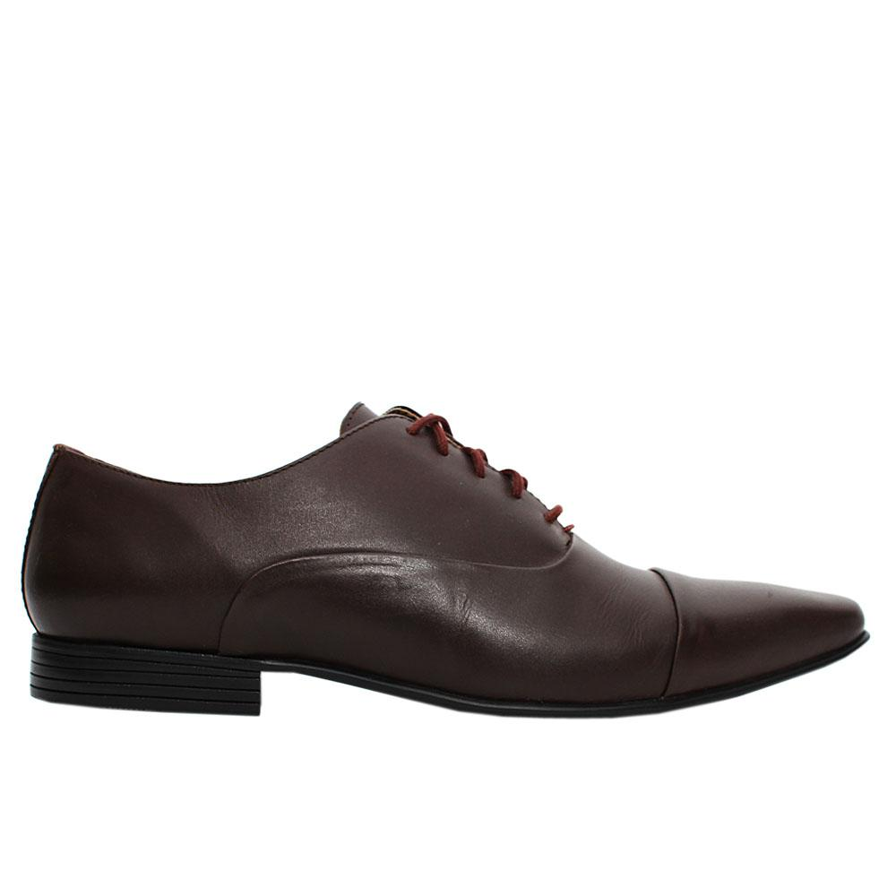 Coffee Kenwall Leather Men Oxford Shoes