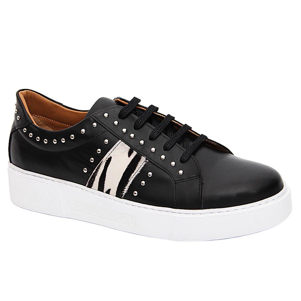 Black Norberto Italian Leather Sneakers