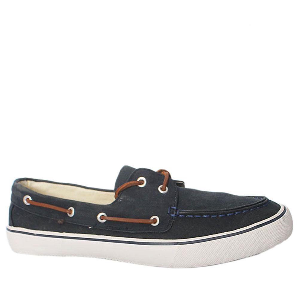 M&S Navy Blue white Mens Shoe Wt Lace Sz 44.5