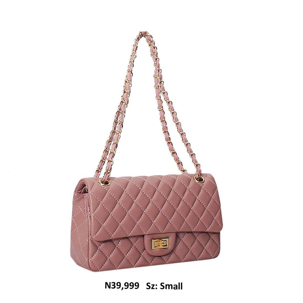 Lilac Kiera  Leather Small Crossbody Handbag