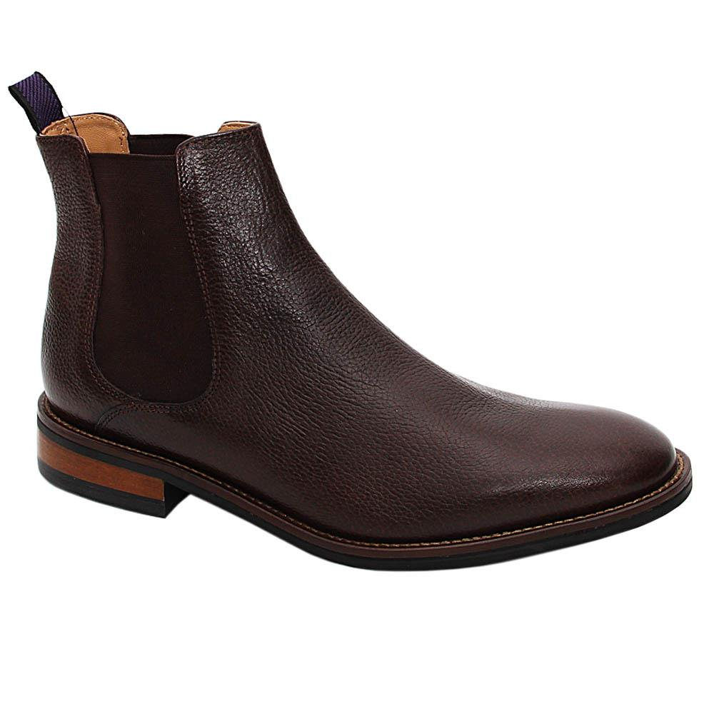 Coffee Lucas Graham Leather Chelsea Boot