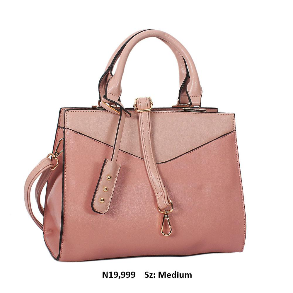 Pink Soraya Leather Tote Handbag