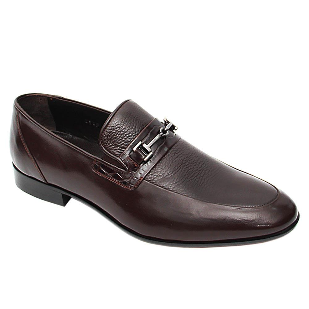 Coffee Alonzo Italian Leather Loafers