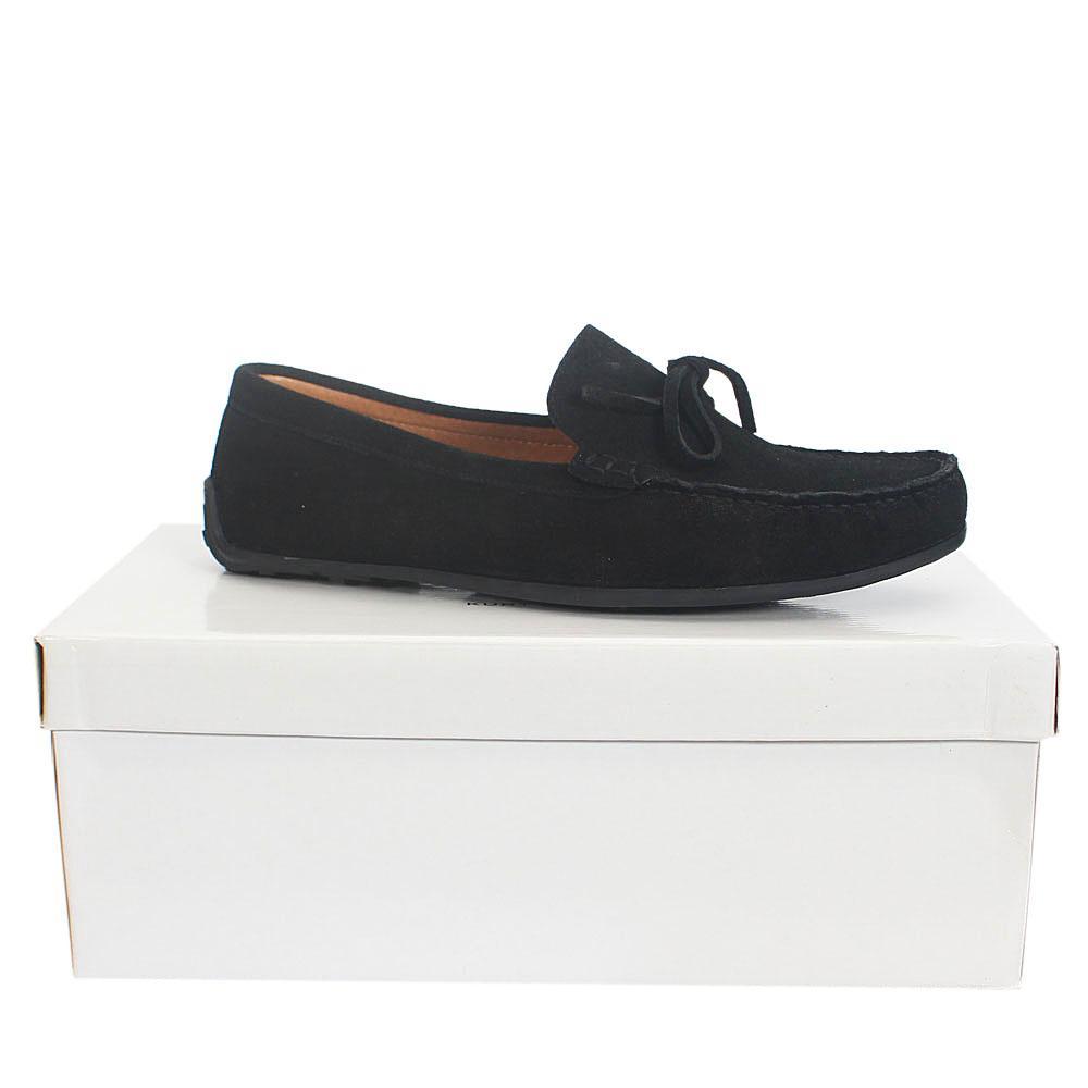 Kurt Geiger Ringwood Black Suede Leather  Men Loafers Sz 44