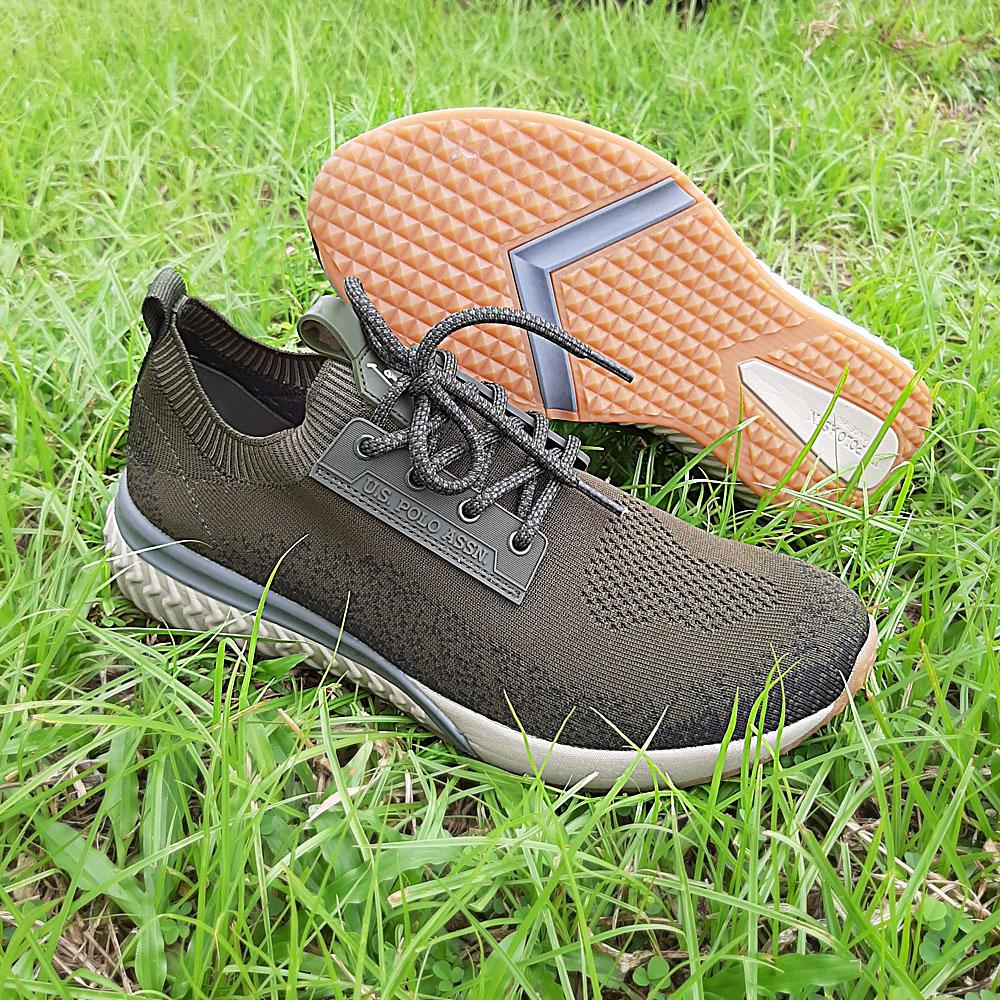 Army Green Elser Fabric Breathable Sneakers