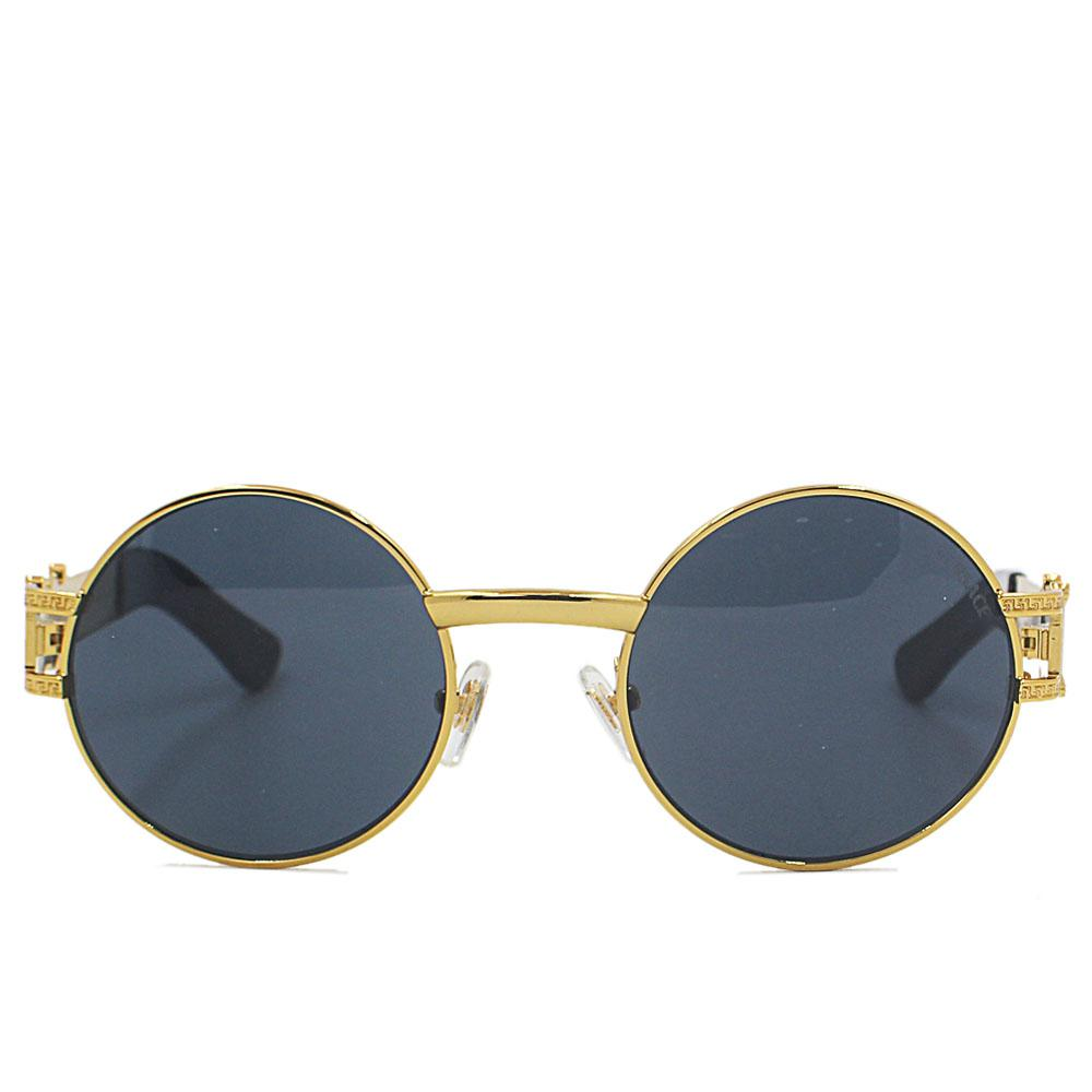 Gold Round FNarrow Fit Sunglasses