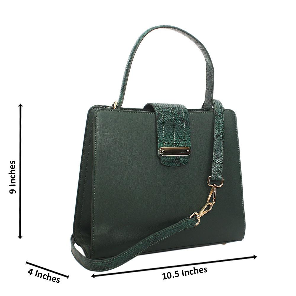 Green Natalia Leather Small Top Handle Handbag