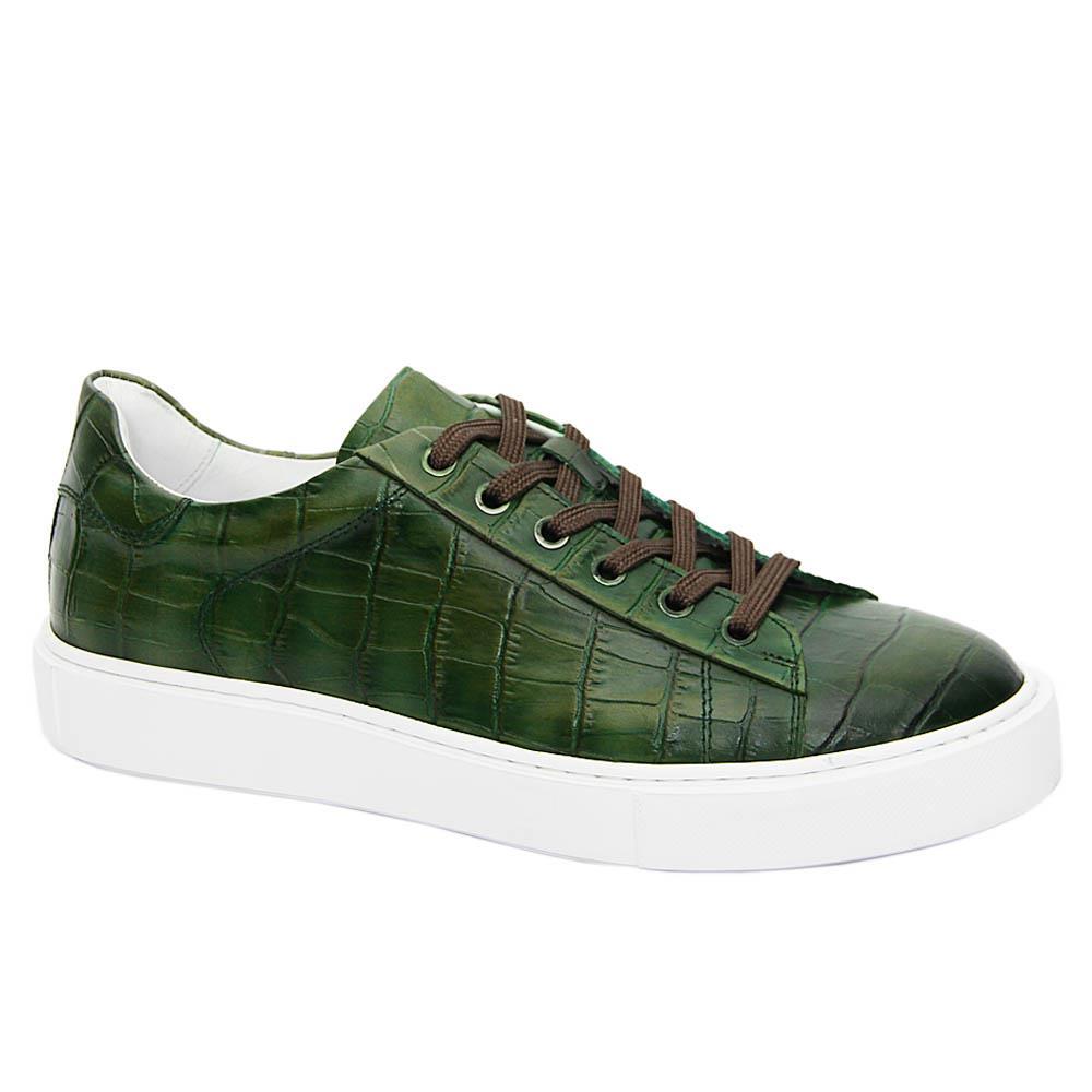 Green Agata Italian Leather Sneakers