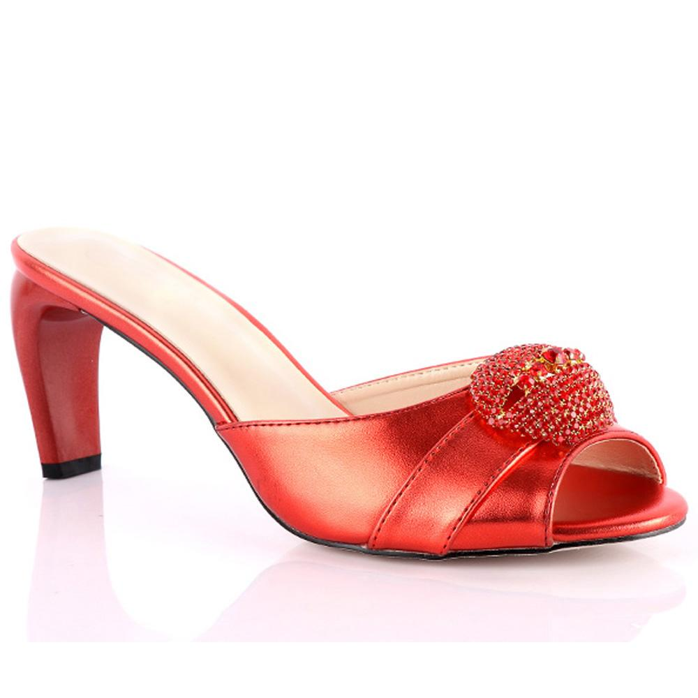 Red Ross Mazza Leather High Heel  Mule