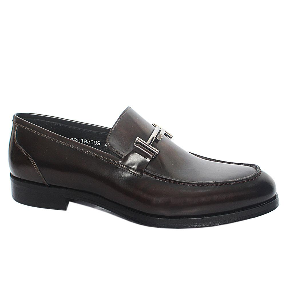 Coffee Diego Italian Leather Loafers