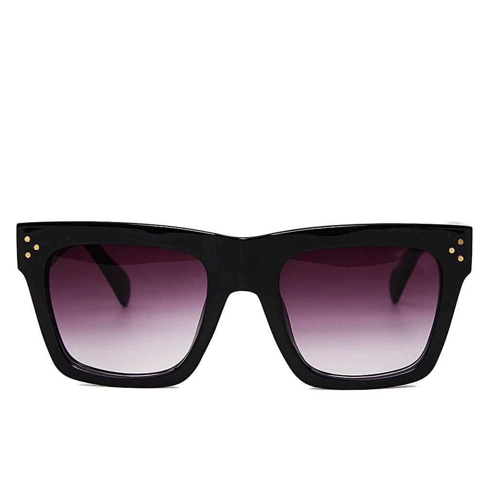 Black Narrow Fit Dark Lens Sunglasses