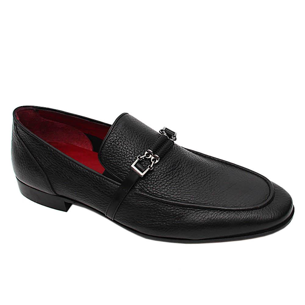 Black Salzar Italian Leather Loafers