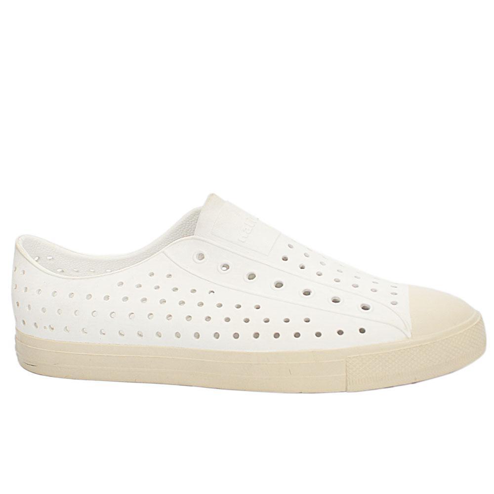 Sz 47 Native White Rubber  Dotted Pattern Men Slipon Shoes