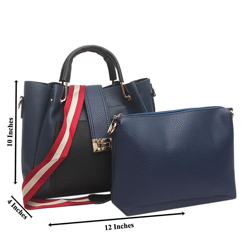 cc55e6f821 Buy Pascal-Morabito-Blue-Black-leather-Medium-Bag - The Bag Shop Nigeria