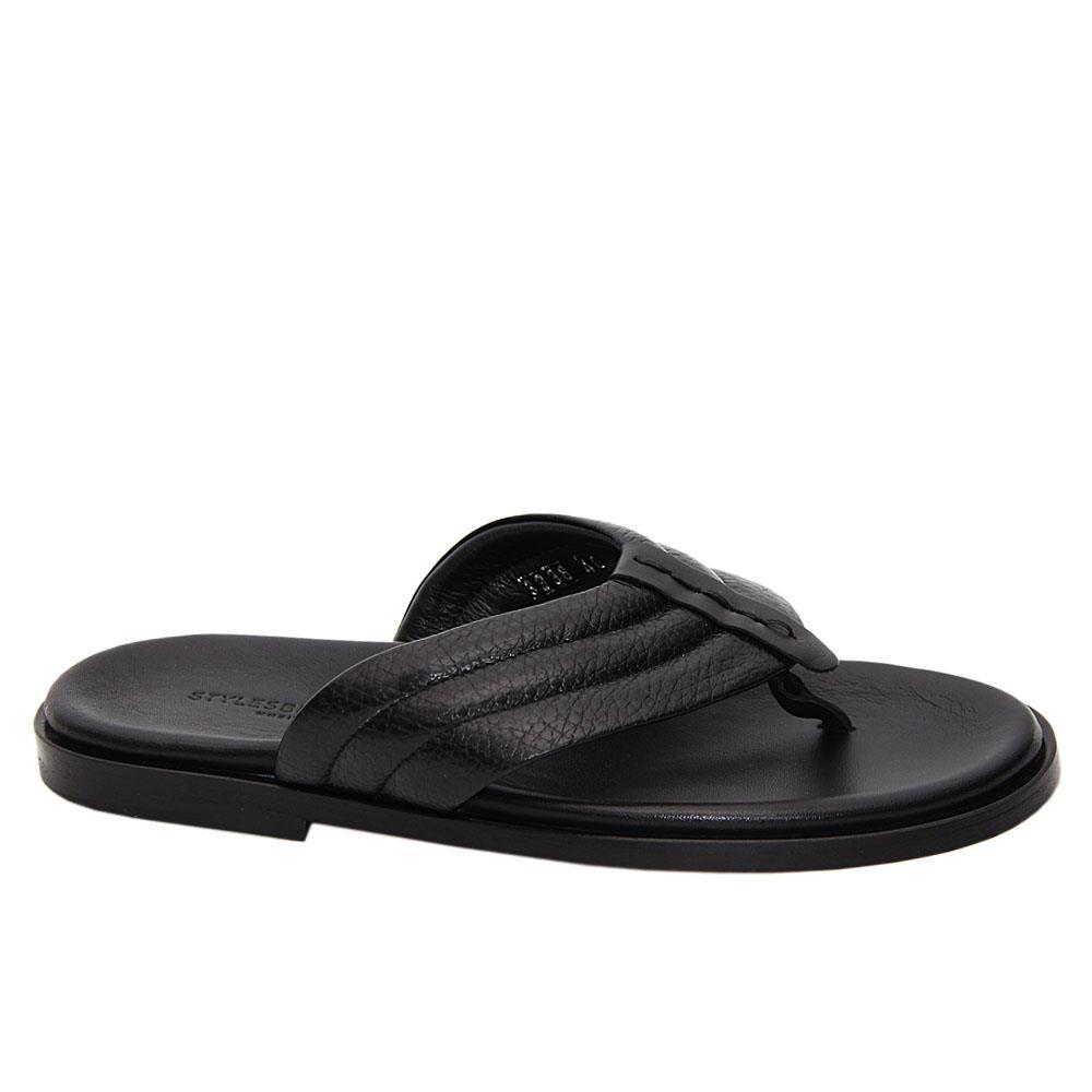 Black Gianantonio Italian Leather Slippers