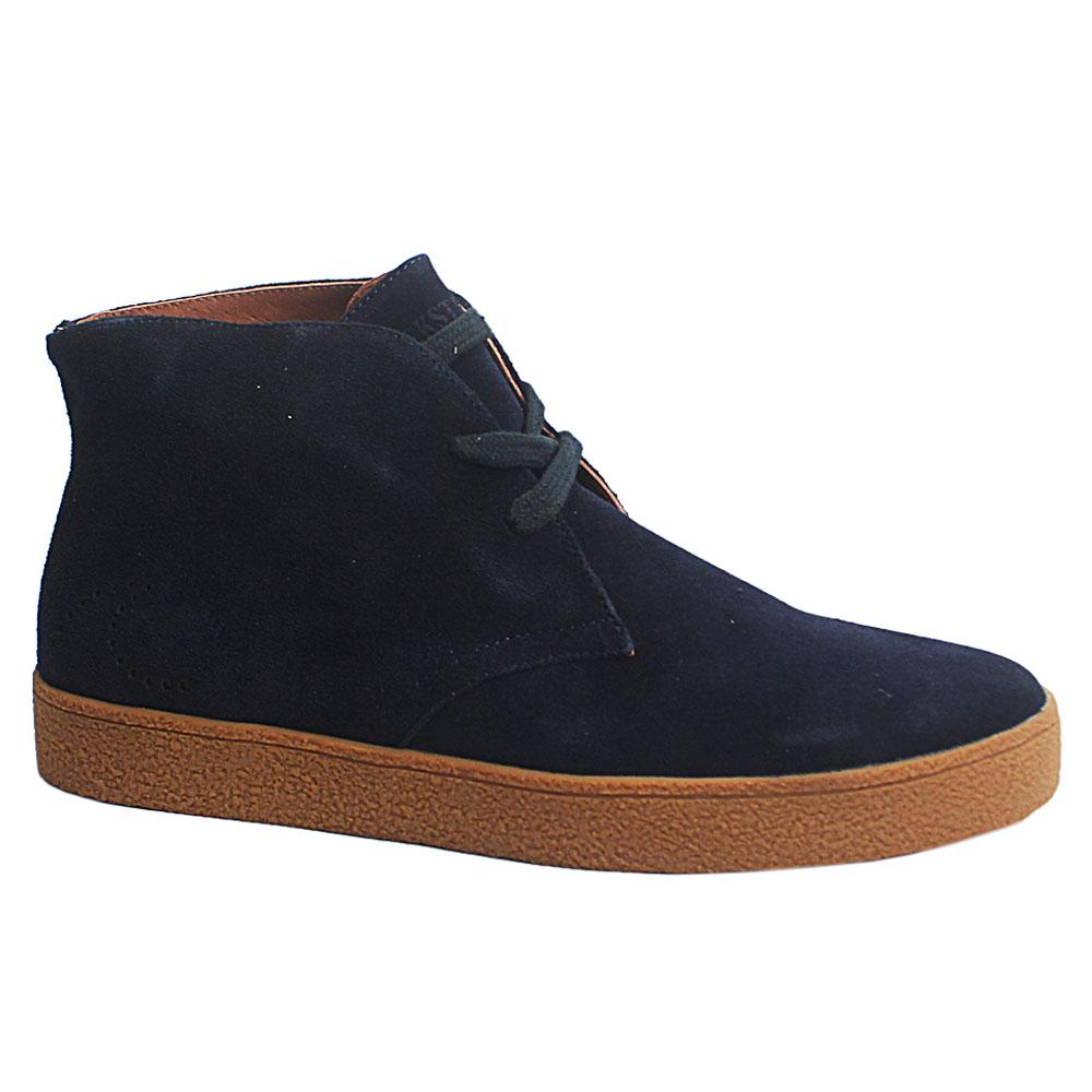 Navy New Salinas Suede Leather Men Ankle Boot