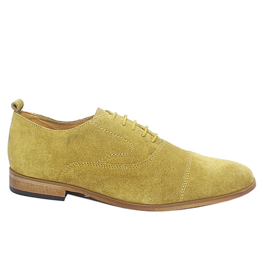 Tan Suede Men Oxford