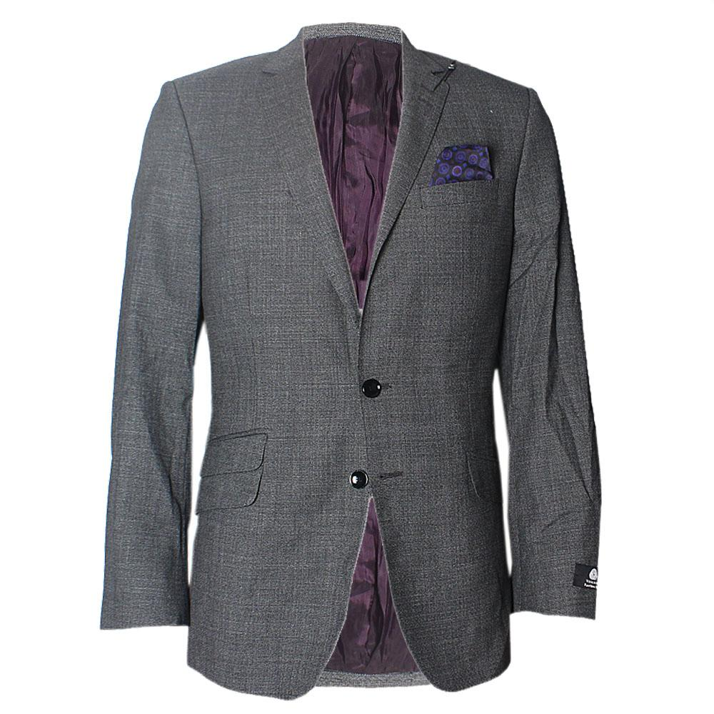 Grey Slim Fit Men Jacket