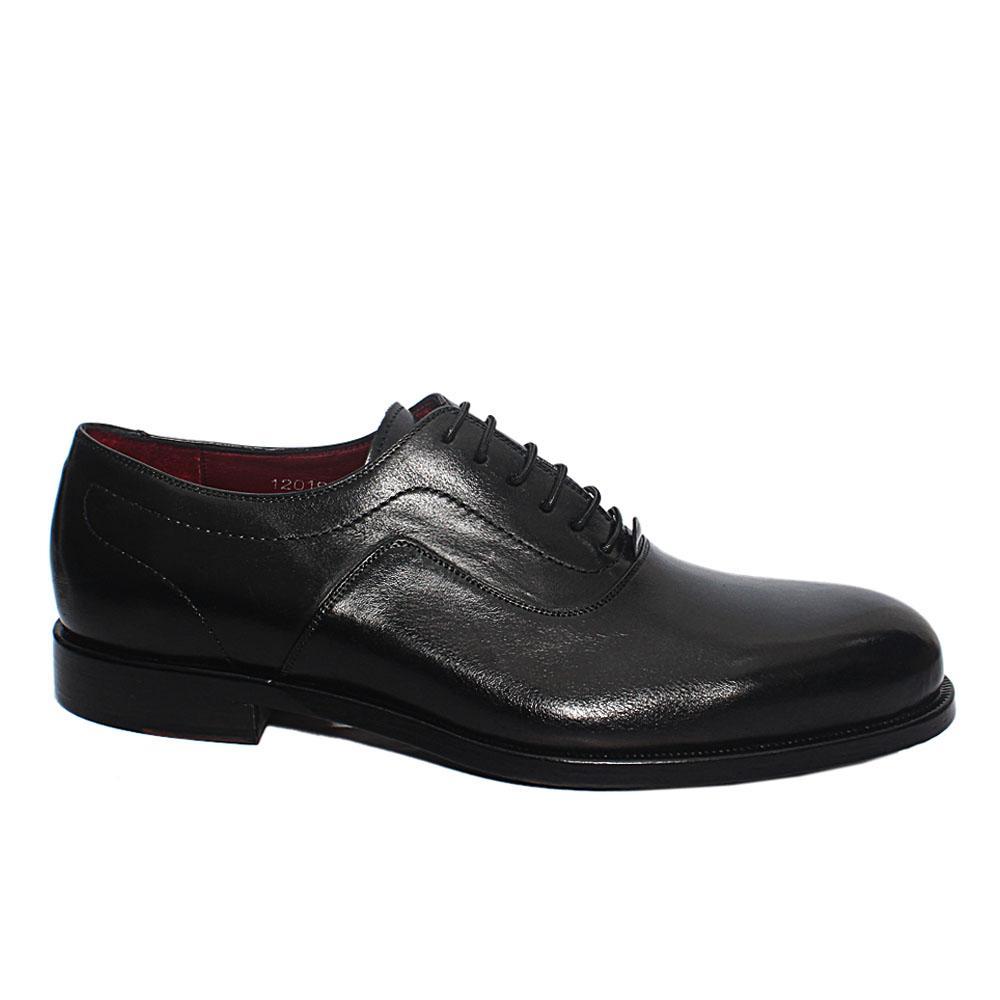 Black TS Strozza Italian Leather Men Oxford