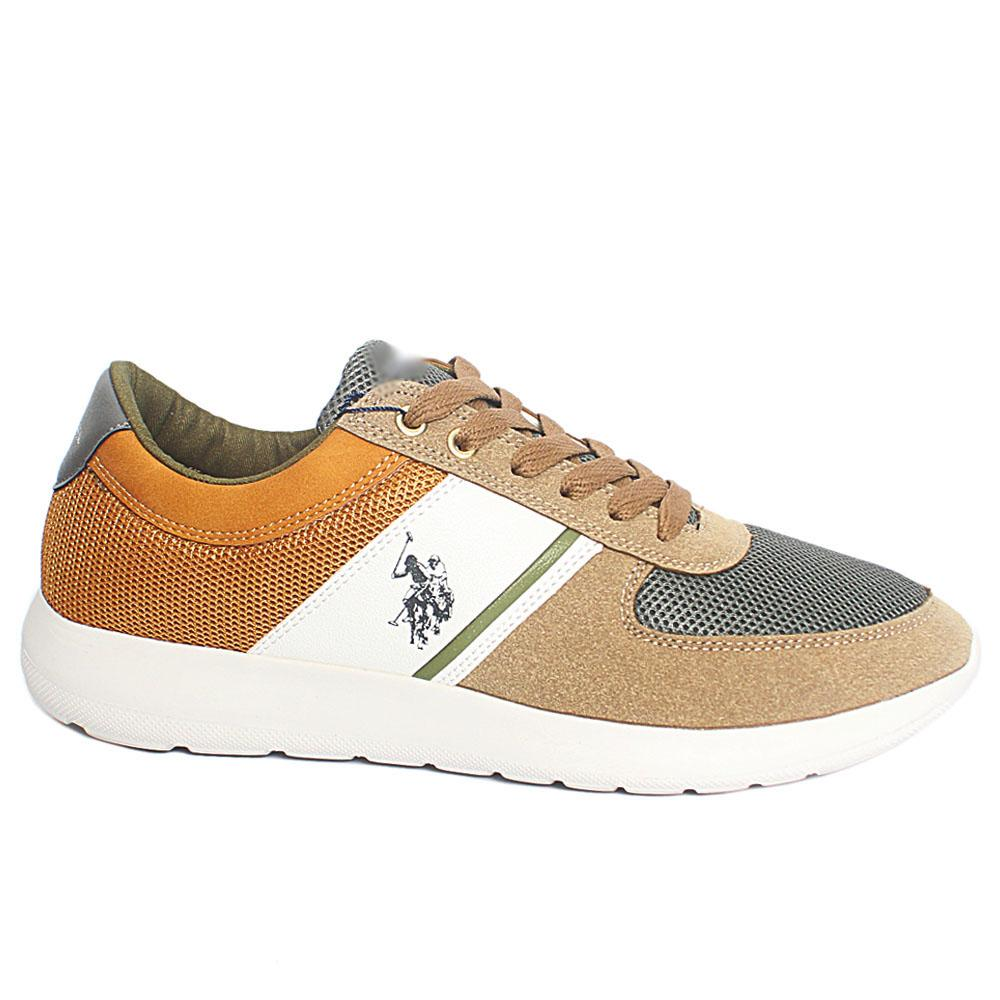 Khaki Diller Fabric Suede Leather Sneakers