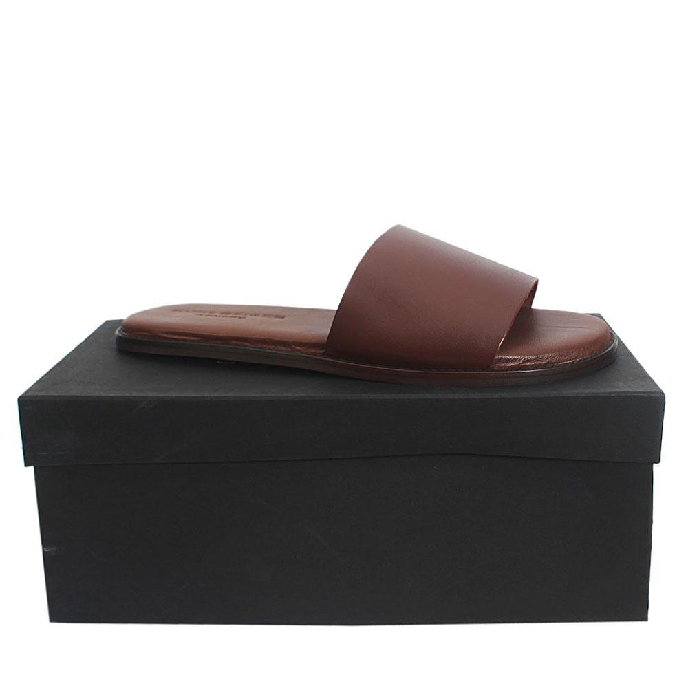 Kurt Geiger Bobby Brown Premium Leather Flat Men Slippers Sz 44