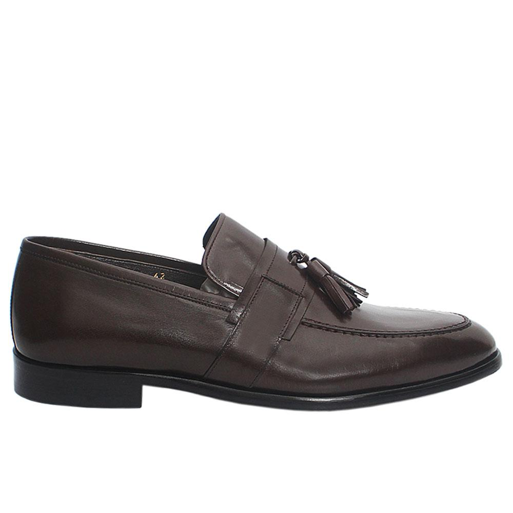 Coffee SB Buffalo Italian Leather Loafers