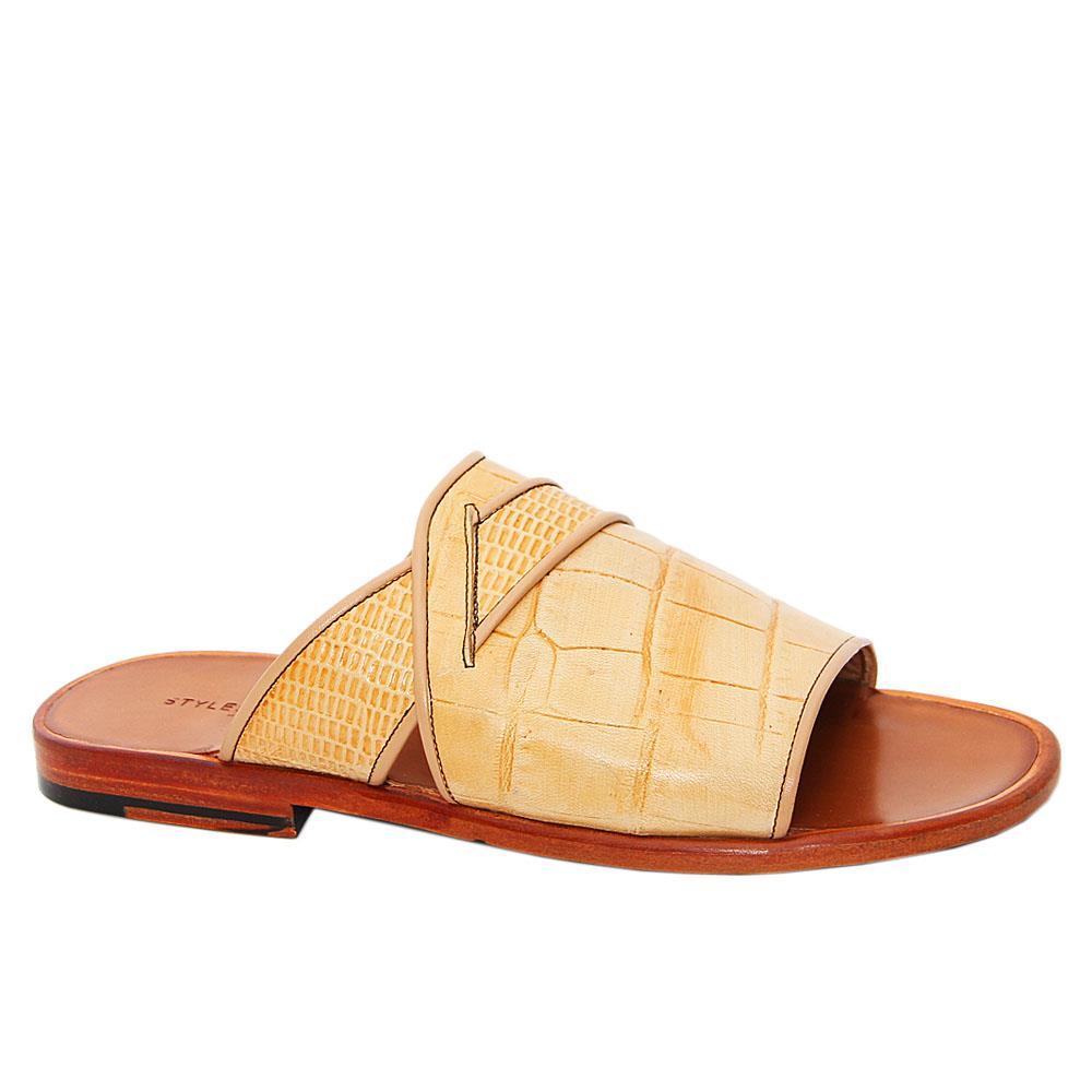 Cream Patricio Italian Leather Slippers