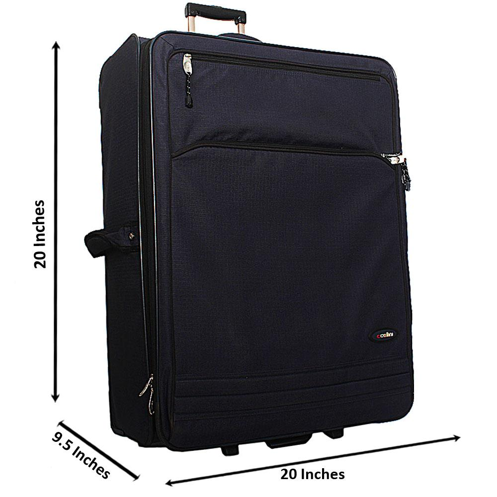 Cellini Blue 28 Inch Fabric 2 Wheels Spinners Large Checked In Luggage