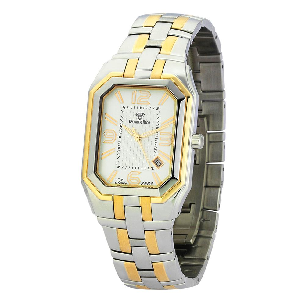 Silver Gold Stainless Steel Classic Watch