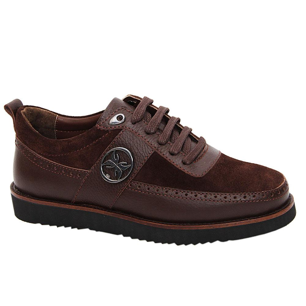 Coffee Nathan Suede Italian Leather Sneakers