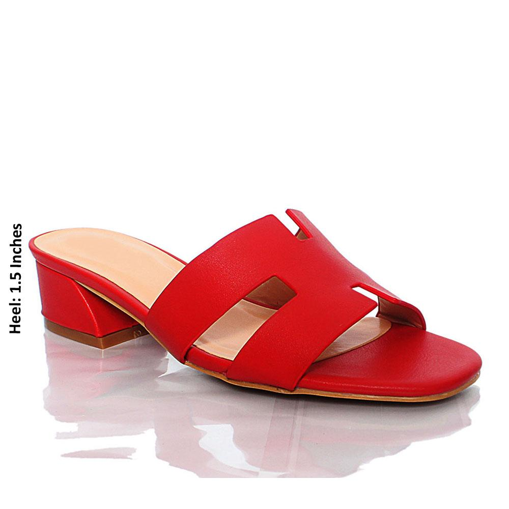 Red LL Sofia Leather Mule