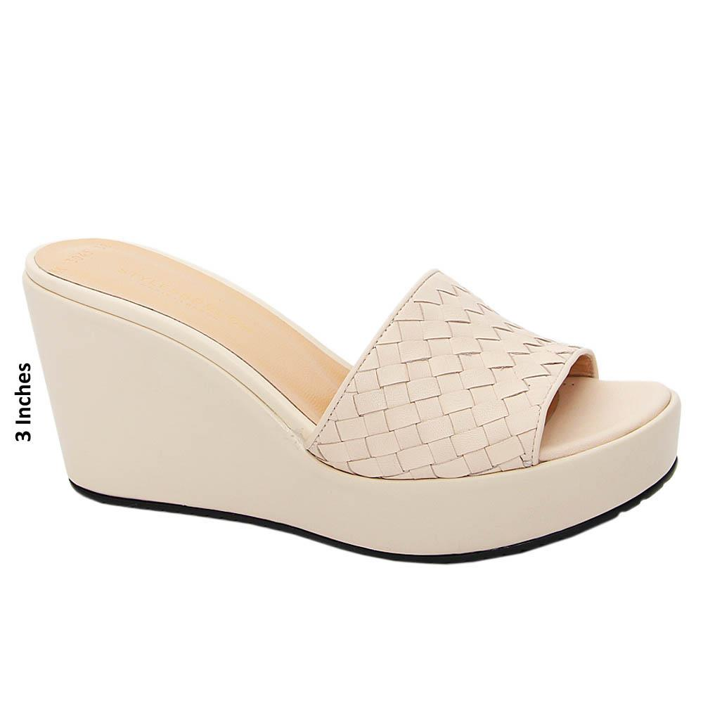 Nude Alessia Woven Tuscany Leather Wedge