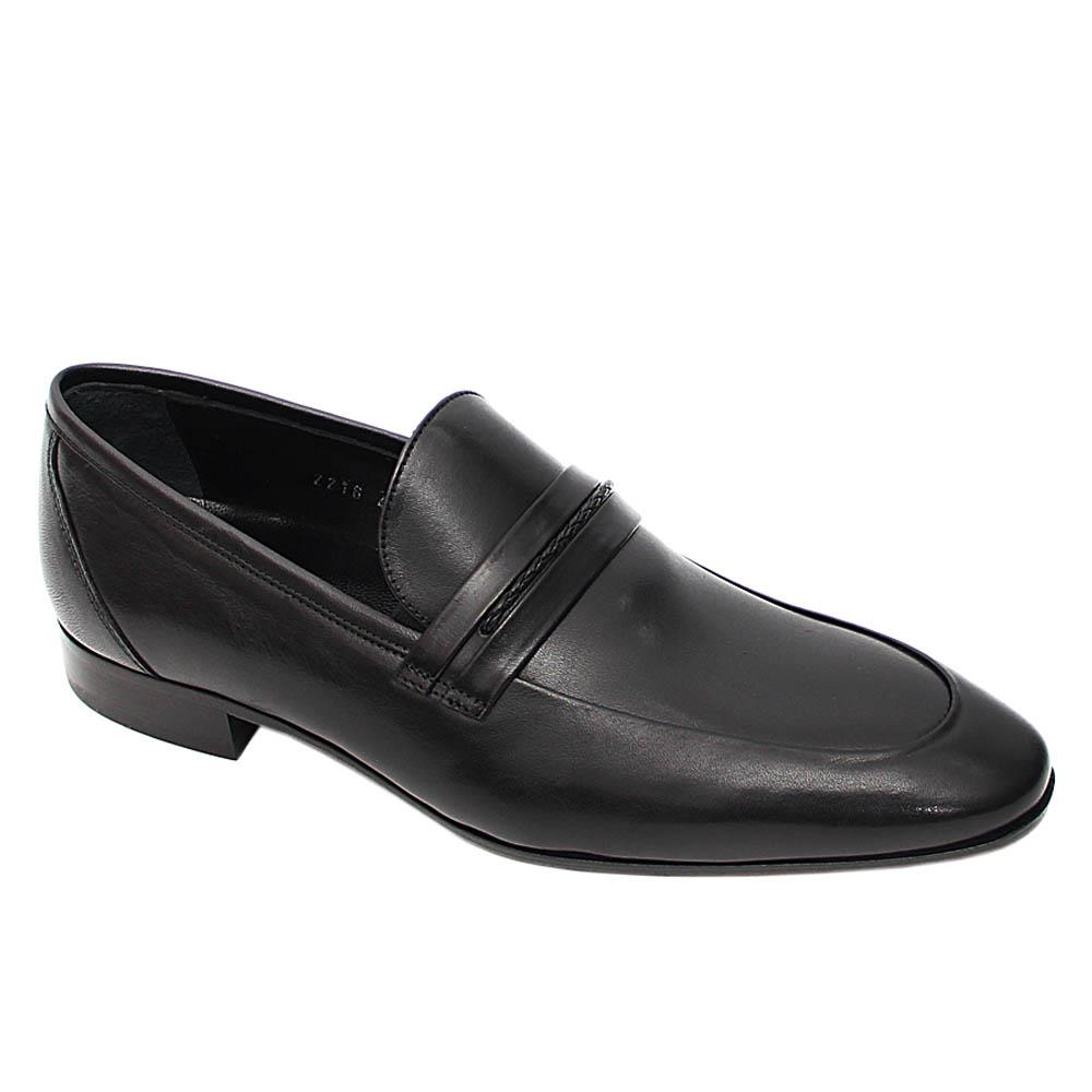 Black Rey Italian Leather Loafers