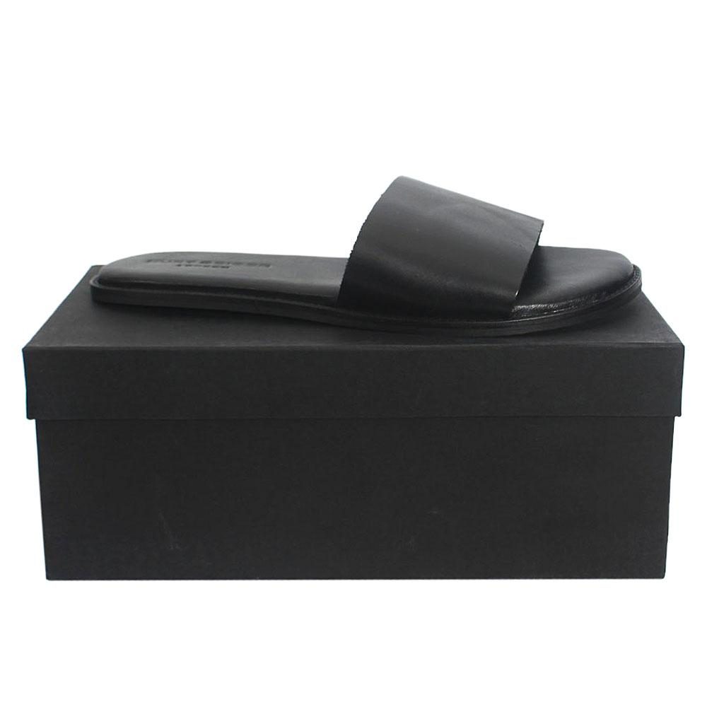 Kurt Geiger Bobby Black Premium Leather Flat Men Slippers Sz 45