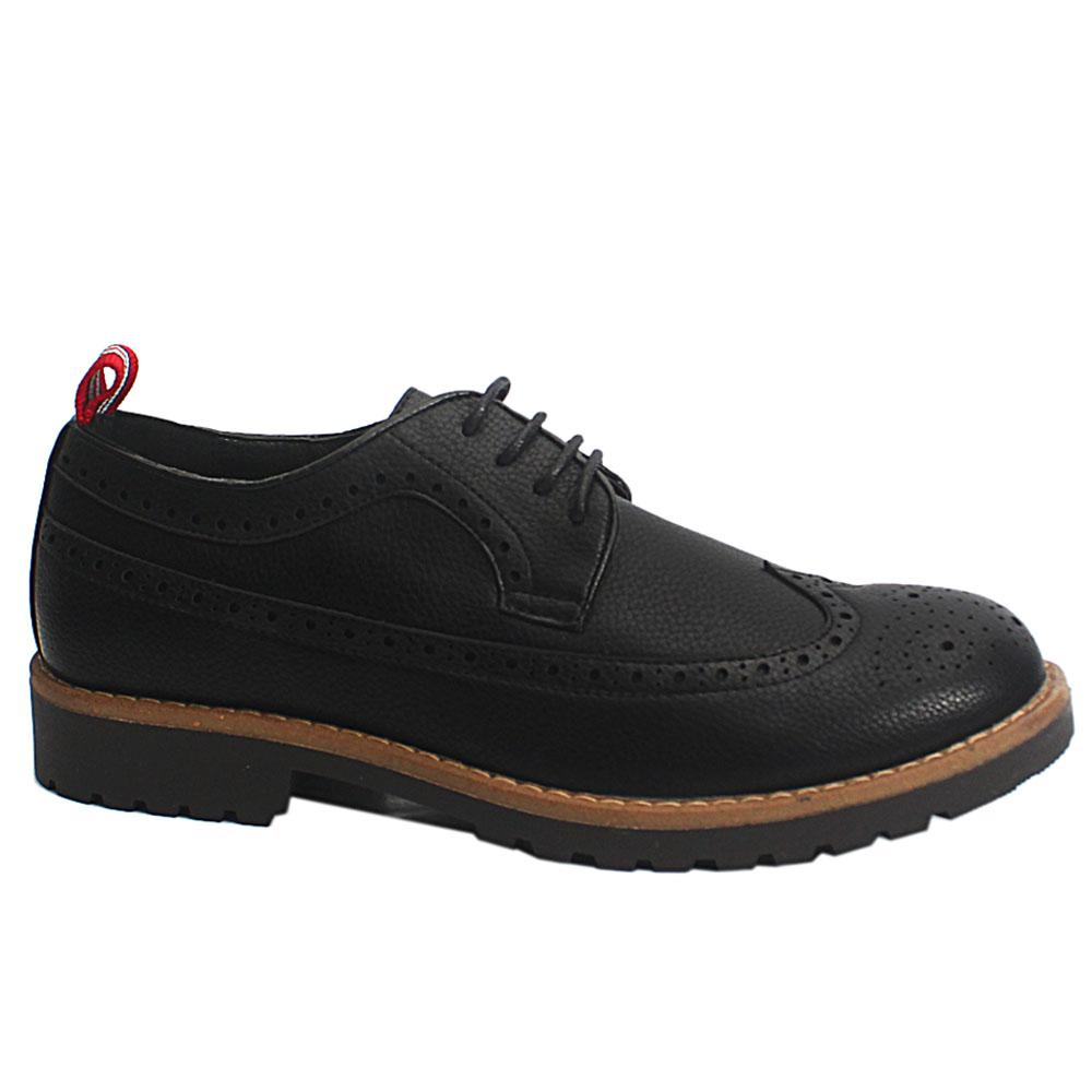 Black Bradford Leather Men Brogue