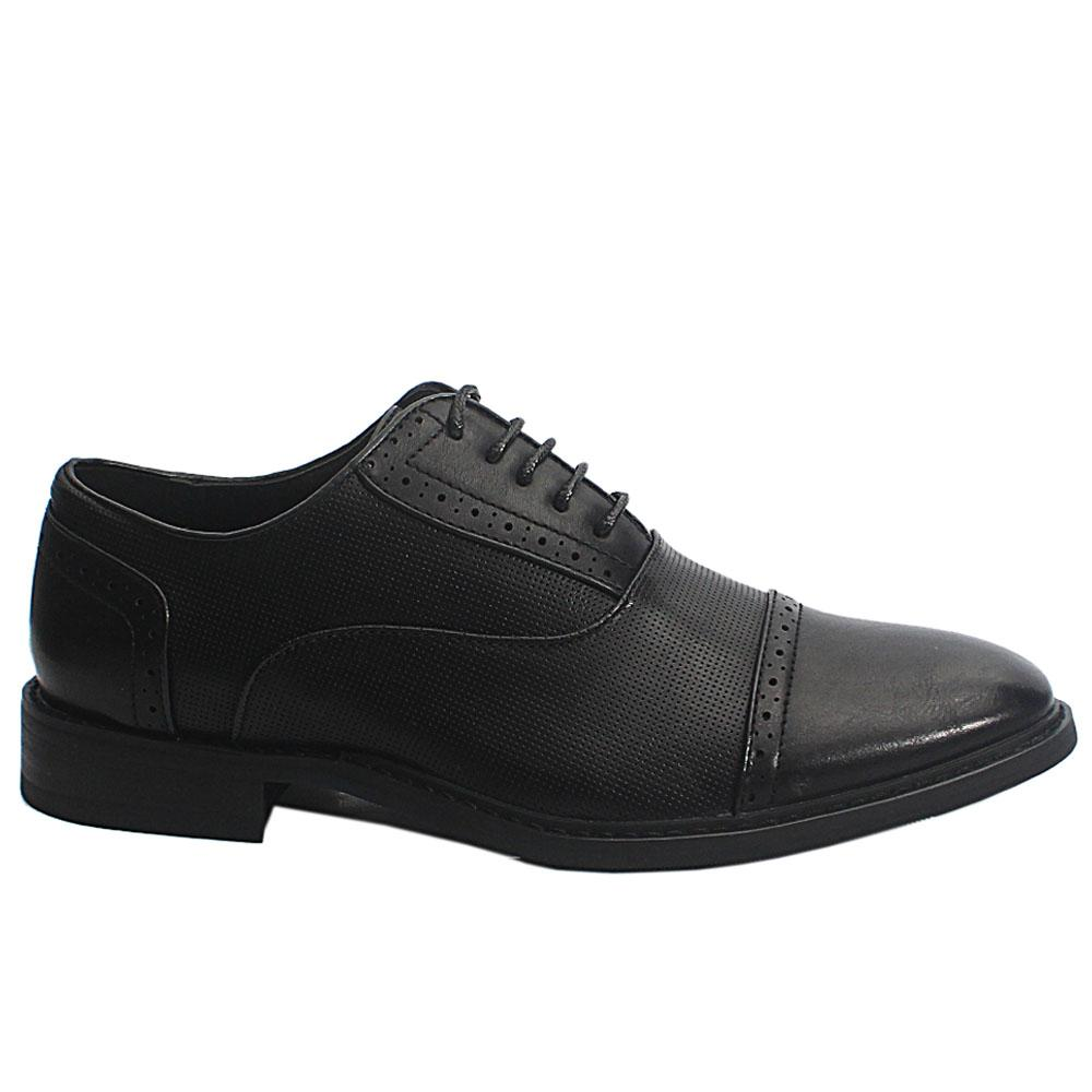 Black Drake Leather Men Oxford Shoes