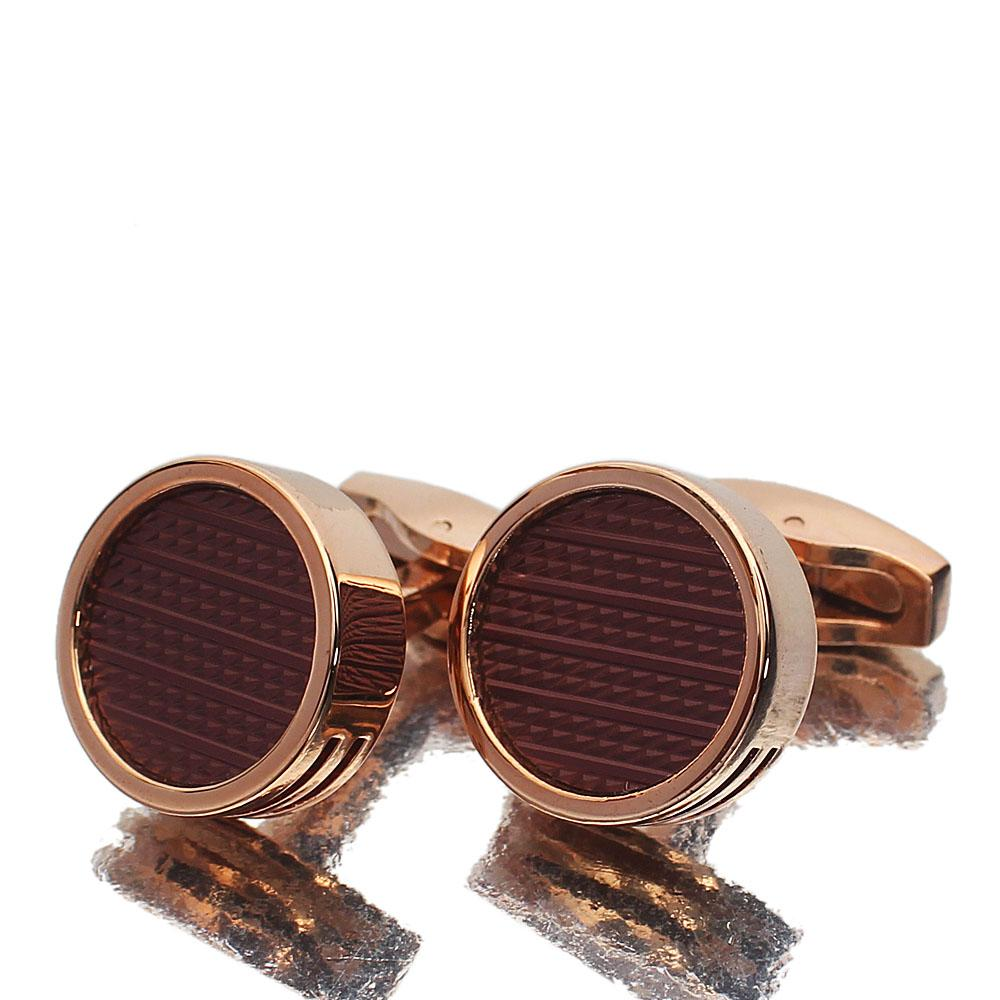 Oxford Rose Gold Stainless Steel Cufflinks