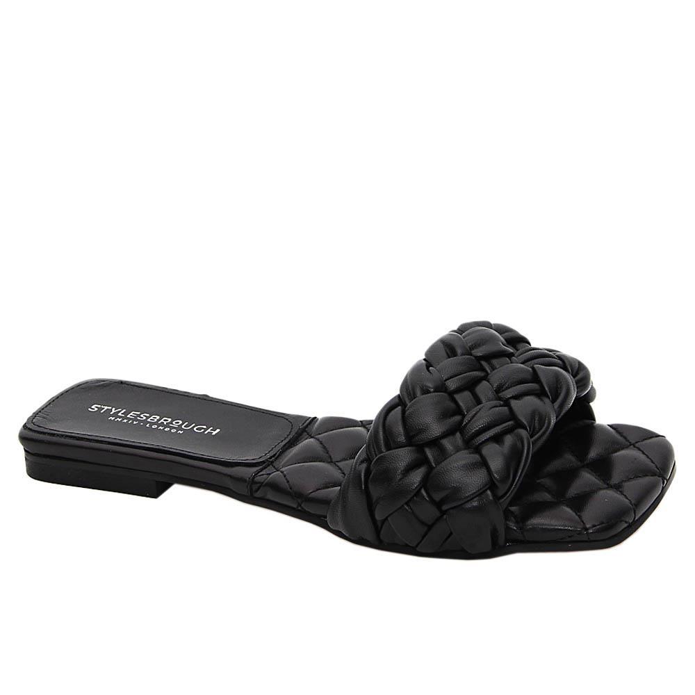Black Benedetta Tuscany Leather Women Flat Slippers
