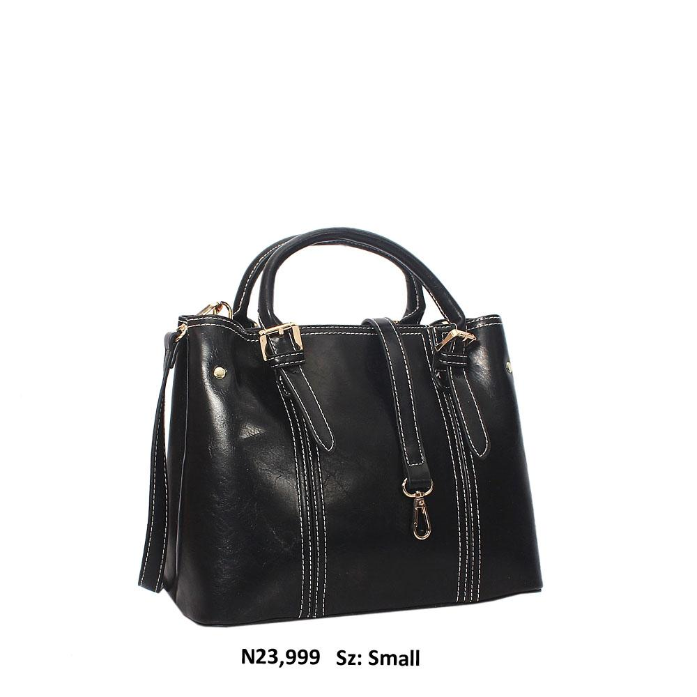 Black Gabriela Leather Tote Handbag