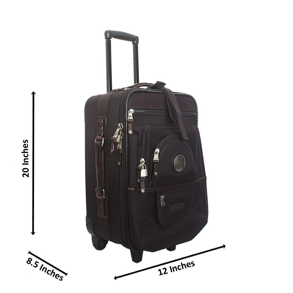The Bridge Black 20 Inch Fabric 2 Wheels Spinners Carry On Luggage