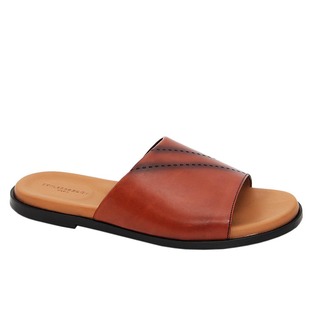 Brown Carlos Italian Leather Slippers