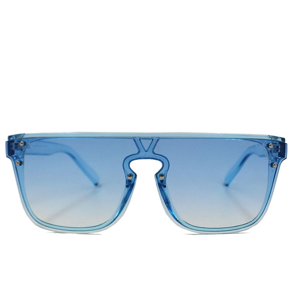 Blue Transparent WoRimless Wayfarer Sunglasses