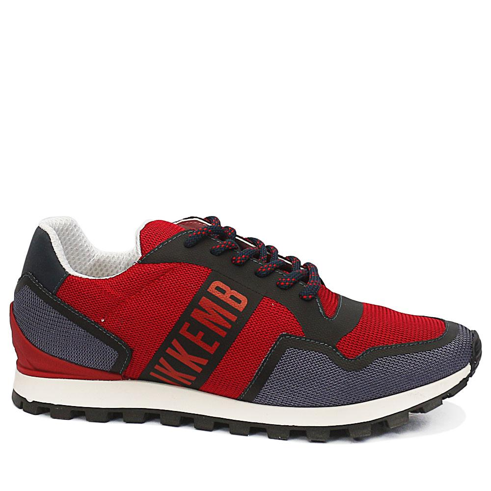 Bergs Red Gray Breathable Sneakers