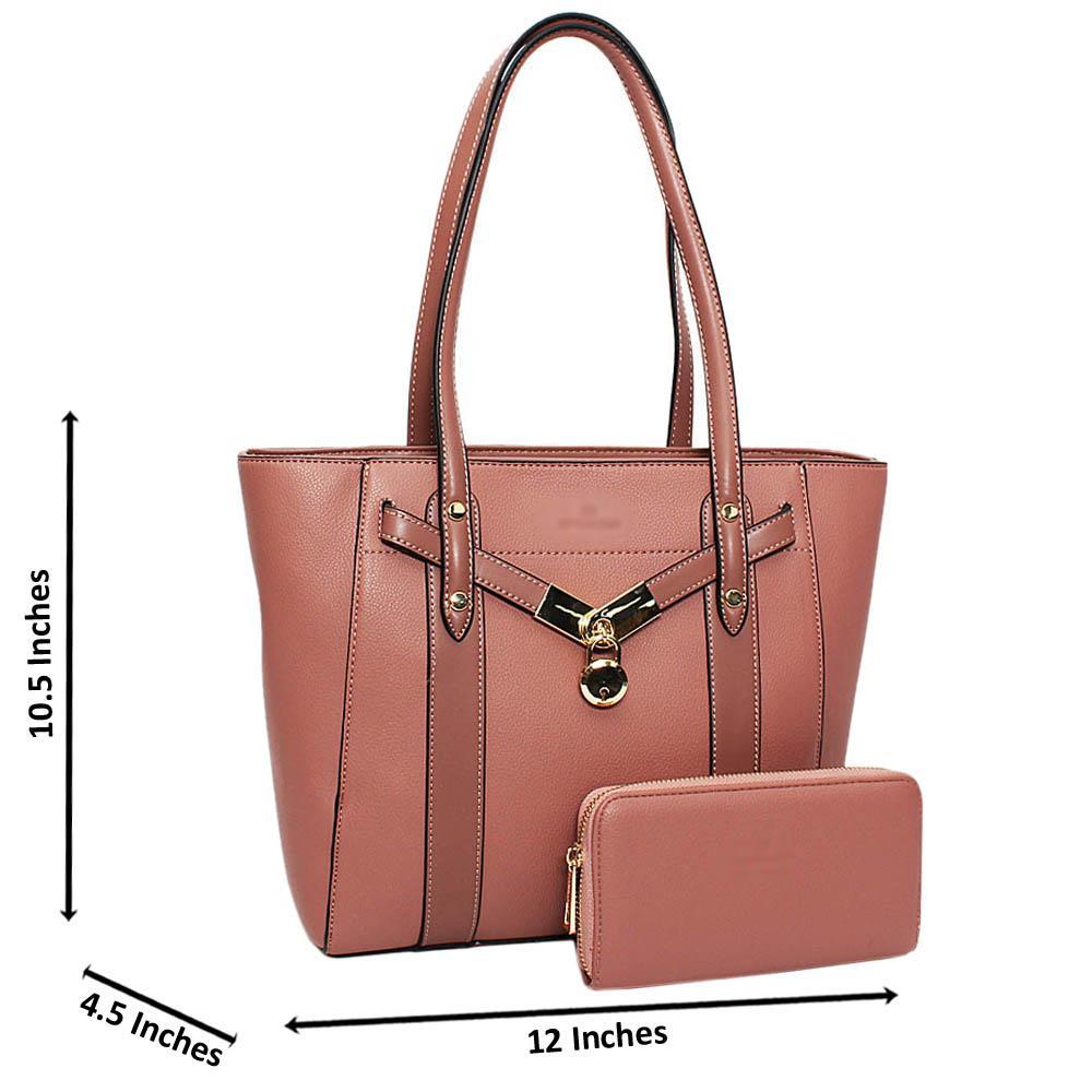 Pink Carina Leather Medium Shoulder Handbag