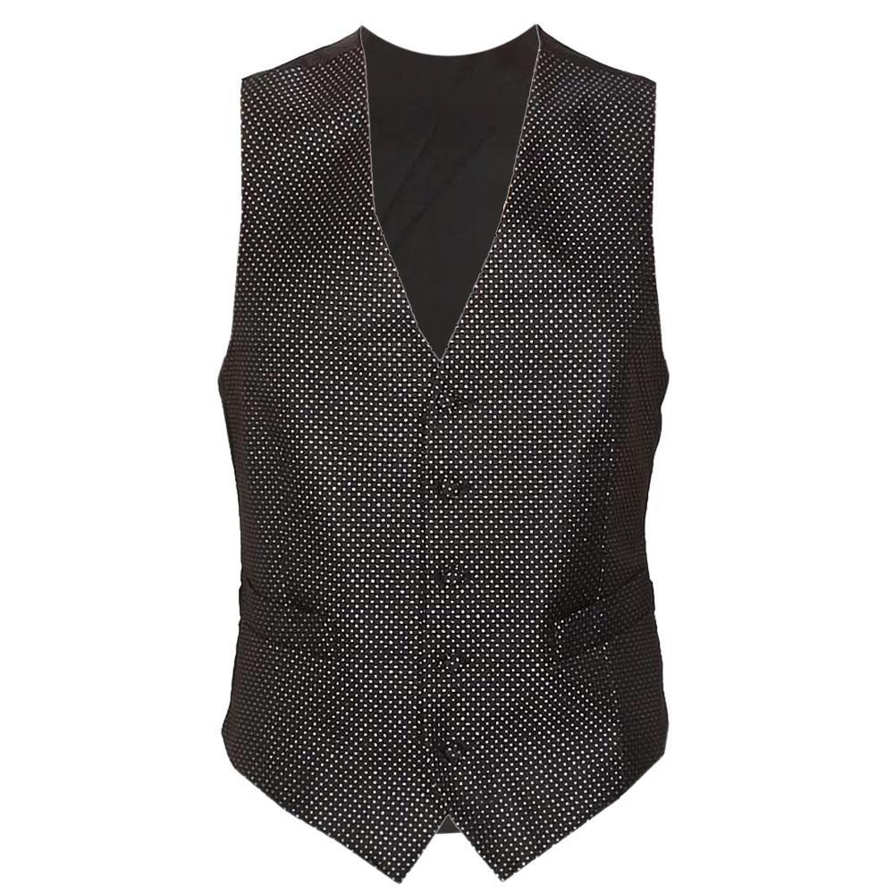 Black Cotton Men Waistcoat S